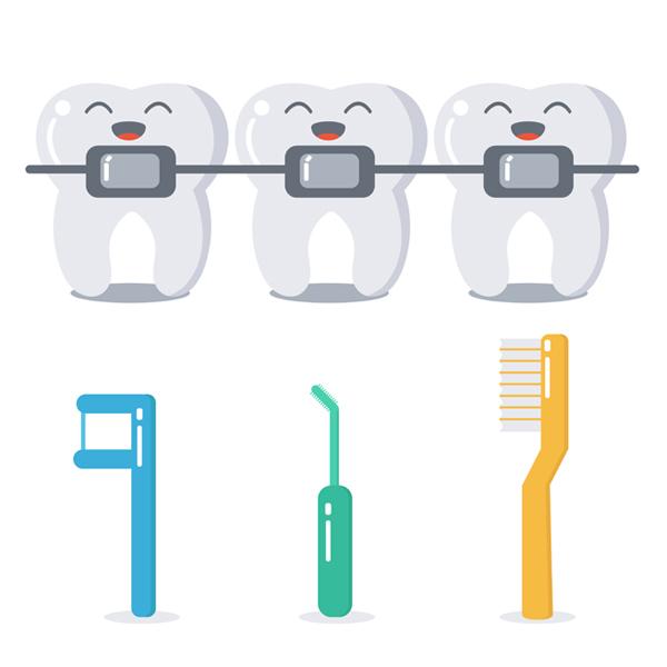como cepillar los dientes con brackets metálicos-castelo-destc